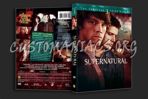 Dvd Supernatural Season 3 supernatural season 3 dvd cover dvd covers labels by customaniacs id 150672 free