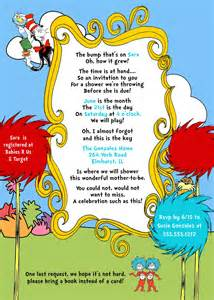 dr seuss cat in the hat baby shower invitation