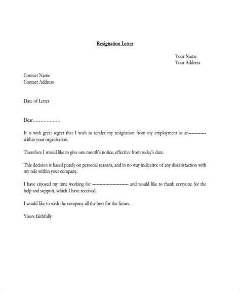 Resignation Letter Format Office Boy 9 official resignation letter template 9 free word