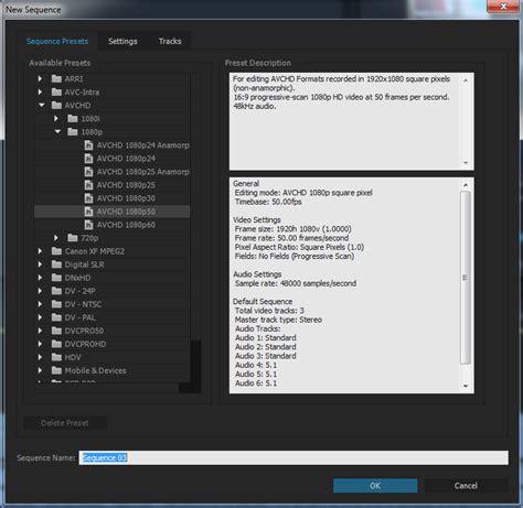 adobe premiere pro burn dvd best sequence preset setting for dvd in adobe premiere