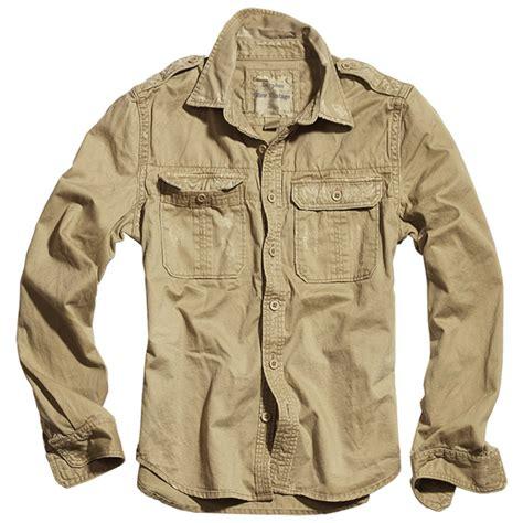 Cotton Alpha Numeric Magic Sand 1 surplus vintage sleeve shirt beige other 1st