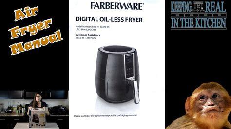 farberware digital oil  fryer manual fbw ft  bk