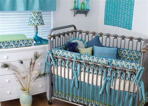 peacock crib bedding 58 best images about monogrammed bedding in the nursery on pinterest