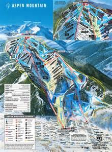 aspen colorado trail map aspen mountain ski trail map aspen colorado united