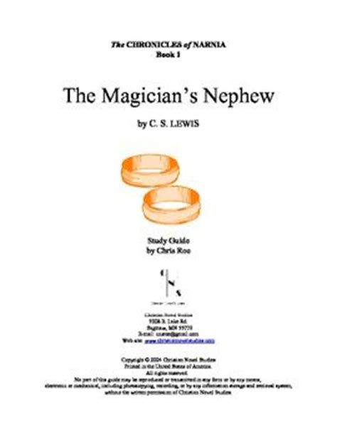 narnia film study guide study guide for narnia the magician s nephew interactive
