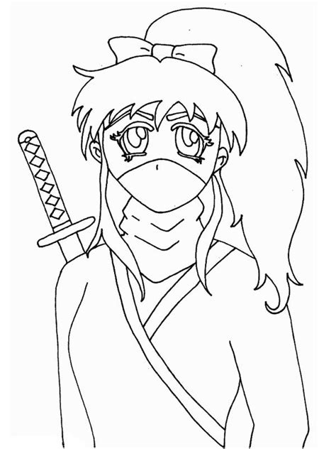 pictures girl coloring schoolgirl girl ninja coloring pages dringrames org coloring