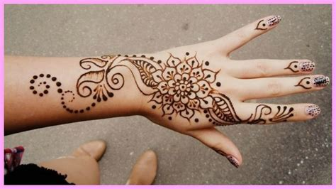 easy simple henna tattoo simple flower henna makedes