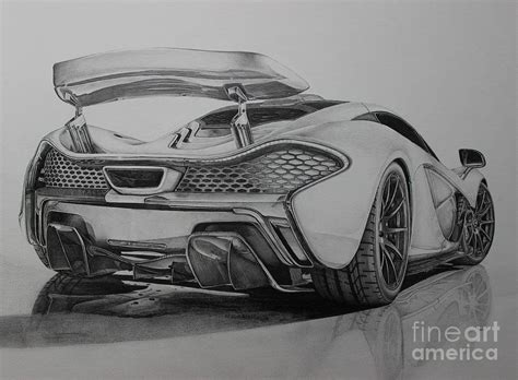 supercar drawing mclaren p1 drawing by gary reising