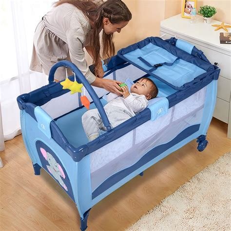 Playard Crib by Baby Crib Playpen Playard Pack Travel Infant Bassinet Bed