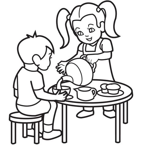 party coloring pages coloring home