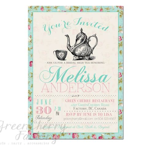 Bridal Tea Invitation Template Tea Party Invitation Templates To Print Free Printable Tea Party Invitations Templates