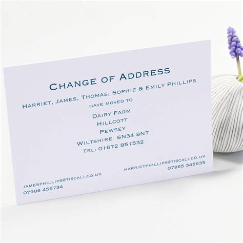 Adressaufkleber Ausweis by Classic Change Of Address Cards By This Is Nessie