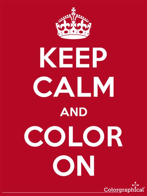 keep calm and color on thelandofcolor