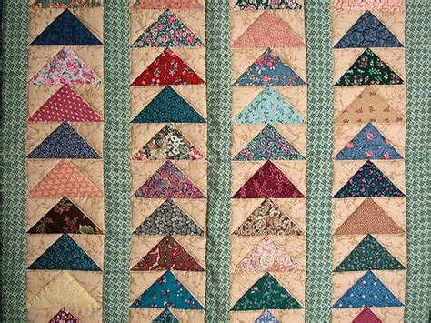 Patchwork Flying Geese - flying geese quilt gorgeous skillfully made amish