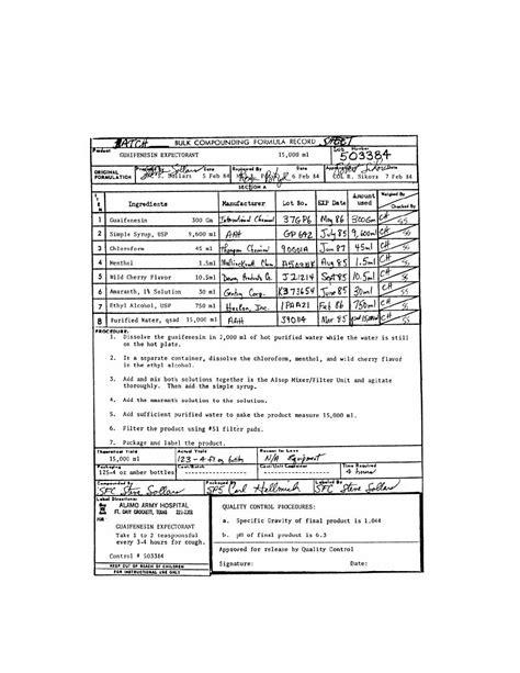 design manufacturing record figure 2 2 batch sheet compounding and manufacturing