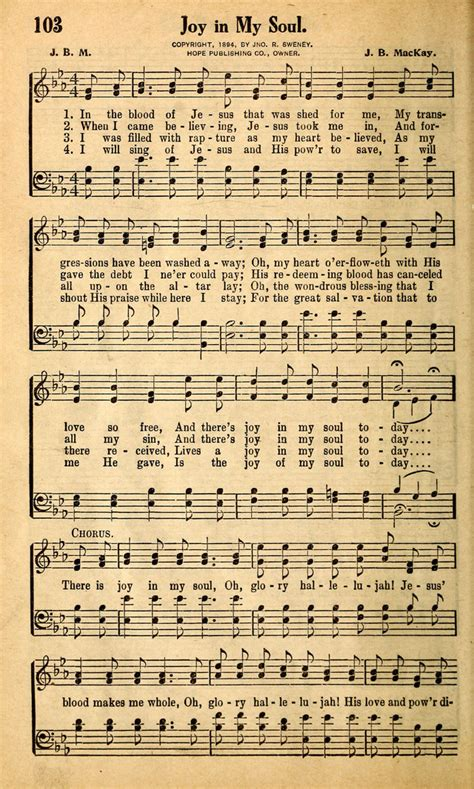 Gospel Song The Blood That Jesus Shed For Me by In Soul Hymnary Org