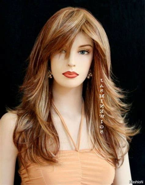 long layers with bangs hairstyles for 2015 for regular people long hairstyles with bangs 2016