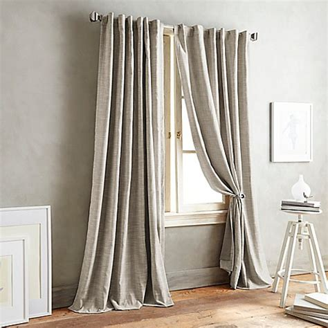 dkny curtains drapes dkny front row back tab window curtain panel bed bath