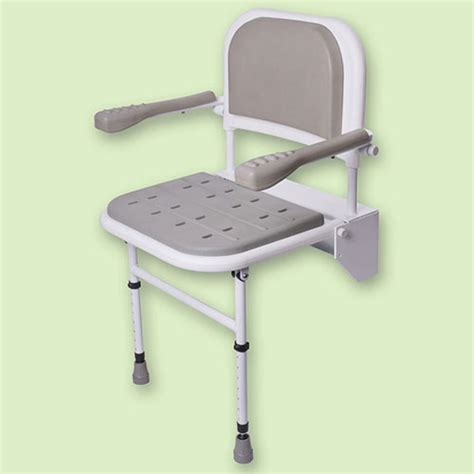 Shower Seats For Elderly by Folding Shower Seat With Legs Padded Seat Back And