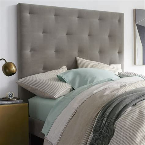 how to diamond tuft a headboard diamond tufted headboard west elm