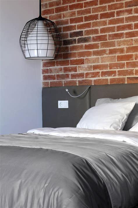 outstanding apartment interior  exposed brick walls