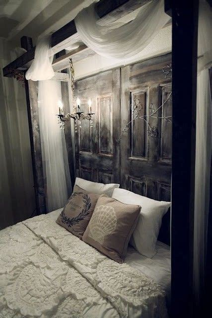 using an old door as a headboard old door headboard homey ideas pinterest