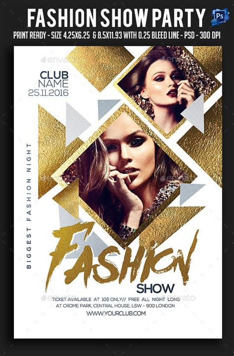 fashion show template fashion show flyer flyer flyer template and