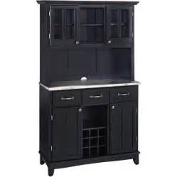 large hutch buffet home styles large buffet two door hutch black finish