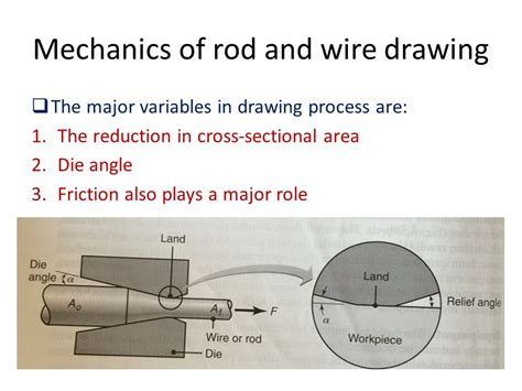 cross sectional area of rod chapter 6 rod wire and tube drawing ppt video