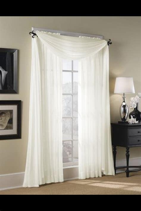 Sheer curtain window drape   Salon Inspiration   Pinterest