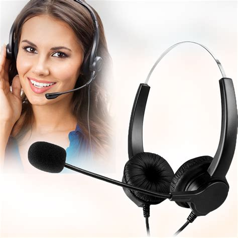 Telepon Call Center Call Plus Headset new free call center usb binaural headset with