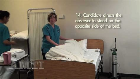making an occupied bed cna skill training making an occupied bed part 2 youtube