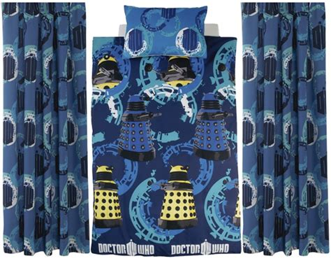 Doctor Who Bed Set Doctor Who Single Bed Duvet Curtains Merchandise Guide The Doctor Who Site