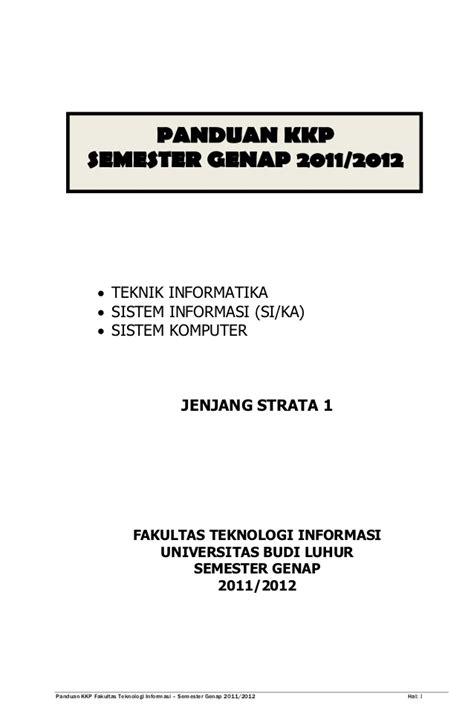 email kkp panduan kkp genap 20112012