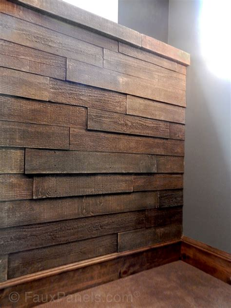 Plank Wainscoting by Decorative Accent Wall Panels Faux Brick Rock Styles