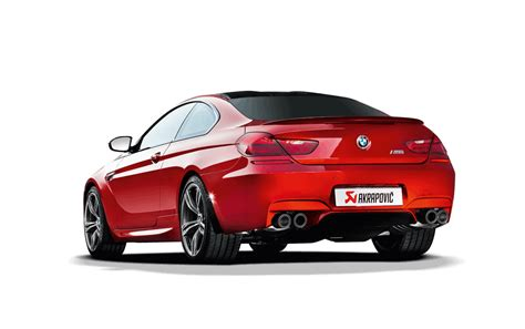 bmw m6 exhaust akrapovic bmw f12 f13 m6 evolution exhaust system