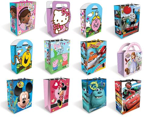 large character gift bags kids birthday party gift