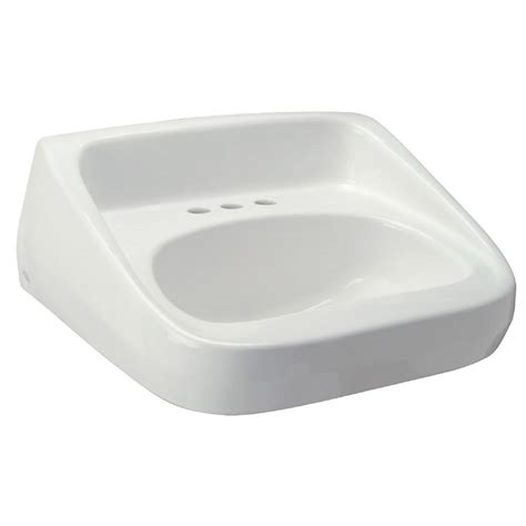 high back bathroom sink zurn high back standard wall mounted bathroom sink in