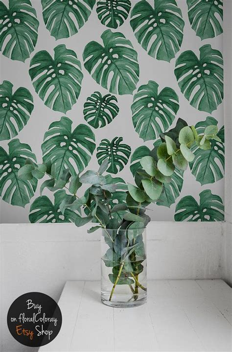 Monstera Leaf Wall