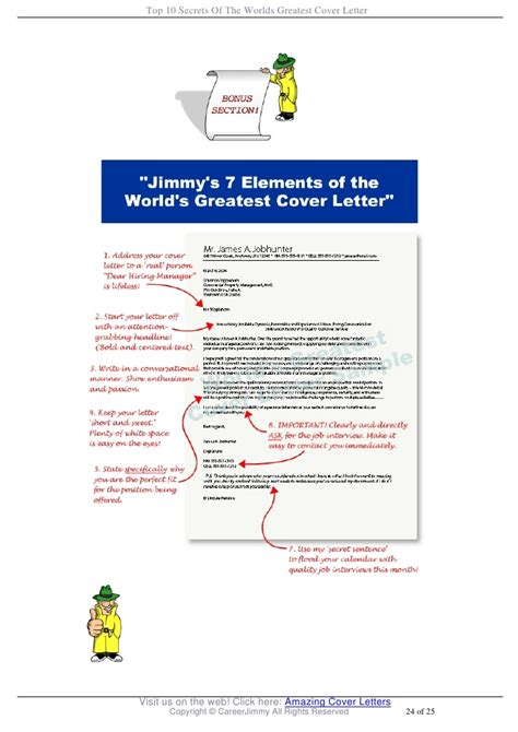 jimmy sweeney cover letter exles top 10 secrets of the worlds greatest cover letter