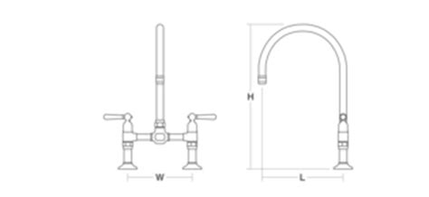 kohler k 7337 hirise two hole deck mount bridge kitchen k 7337 4 hirise deck mount bridge kitchen sink faucet