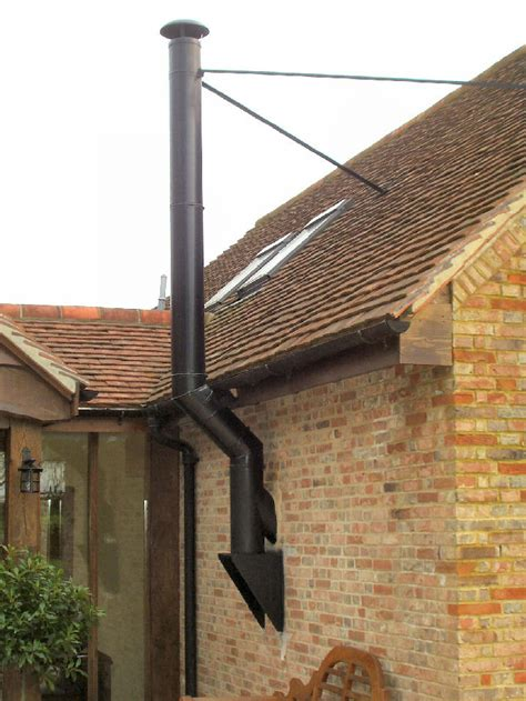 Chimney Height On Single Storey Extension - roof flue cleaning up the cone neck