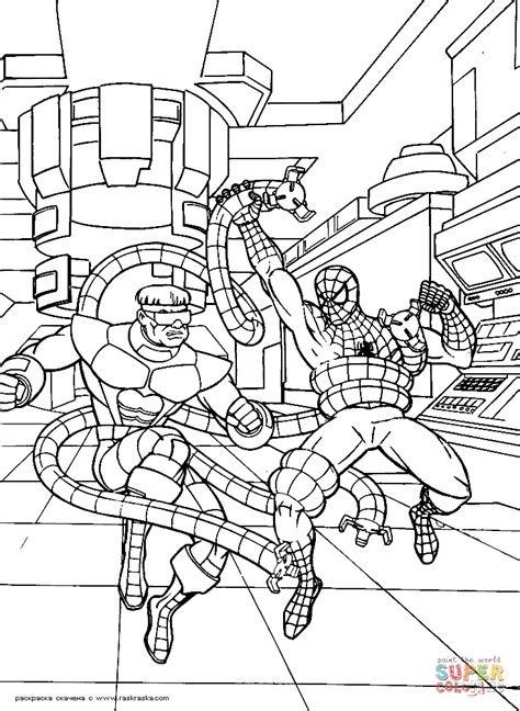 spiderman villains coloring pages coloring home