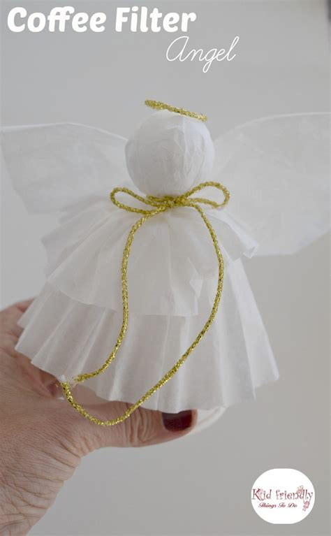 a simple coffee filter tree topper craft