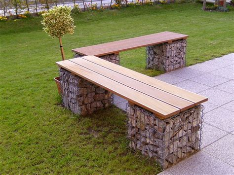 gabion bench garden design with stone cages gabions blog