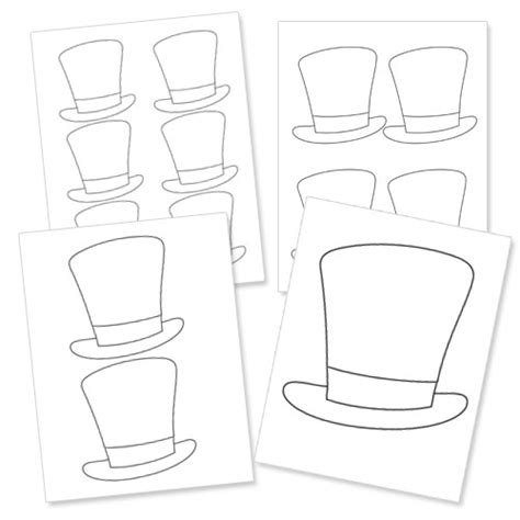 pattern drama magic best photos of top hat printable pattern template