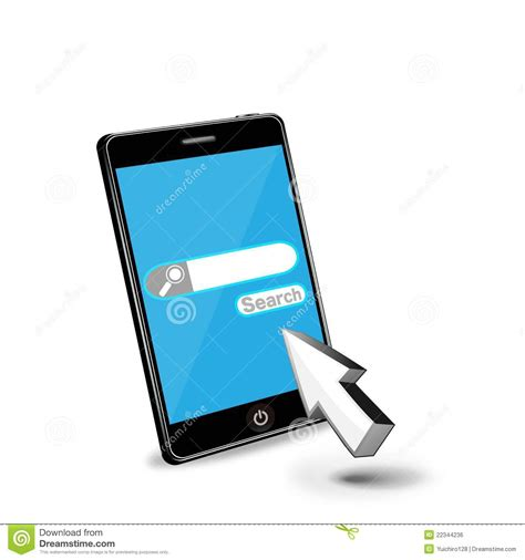 Phone Lookup Net Smart Phone Web Search Royalty Free Stock Image Image 22344236