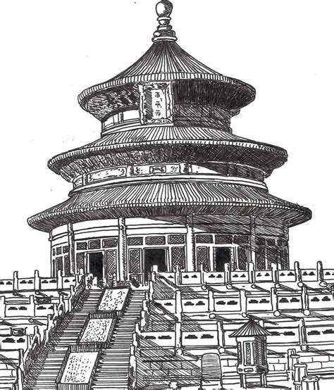 Coloriage Adulte Chine Temple Chinois 5