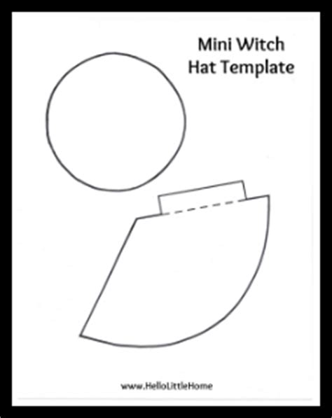 paper witch hat template diy mini witch hat headband