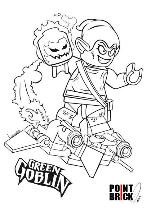 printable heroes goblins disegni da colorare lego marvel super heroes green